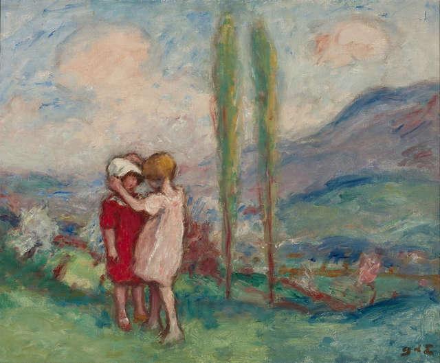 Georges d'Espagnat, 'Children in a Park ', ca. 1900,  M.S. Rau Antiques