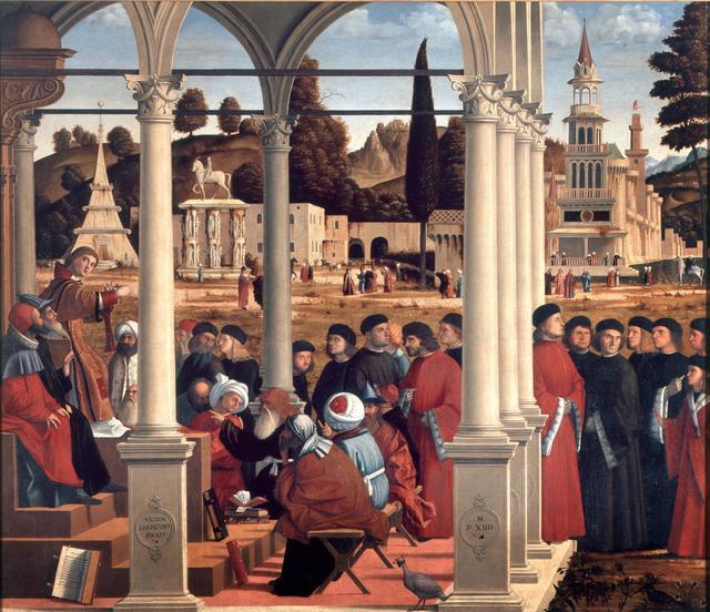 Vittore Carpaccio, 'The disputation of St. Stephen', 1514, Pinacoteca di Brera
