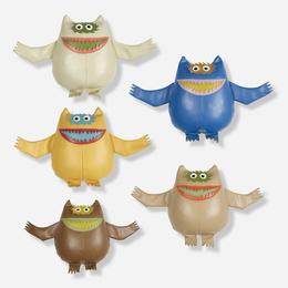 Nauga dolls, set of five