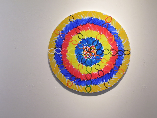 Jose-Ricardo Presman, 'I Plant - Gravity and Levity, detail', 2012, Installation, Acrylic on round canvas, Amos Eno Gallery