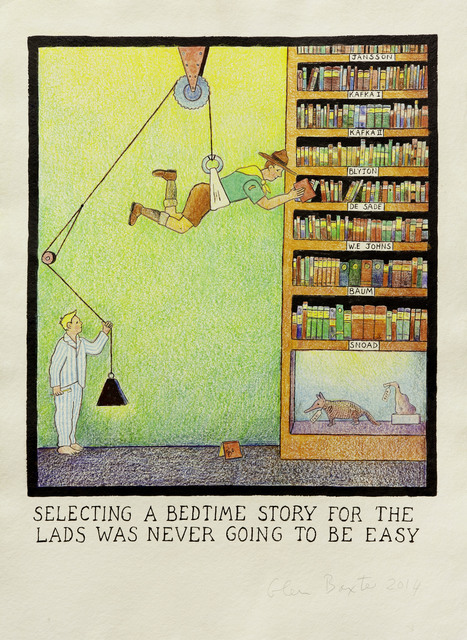 , 'Selecting a bedtime story for the lads was never going to be easy,' 2014, Flowers