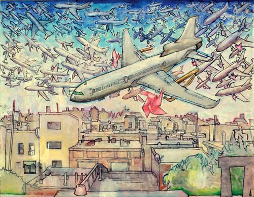 , 'School of Pinwheel Airplanes,' 2009, Seraphin Gallery