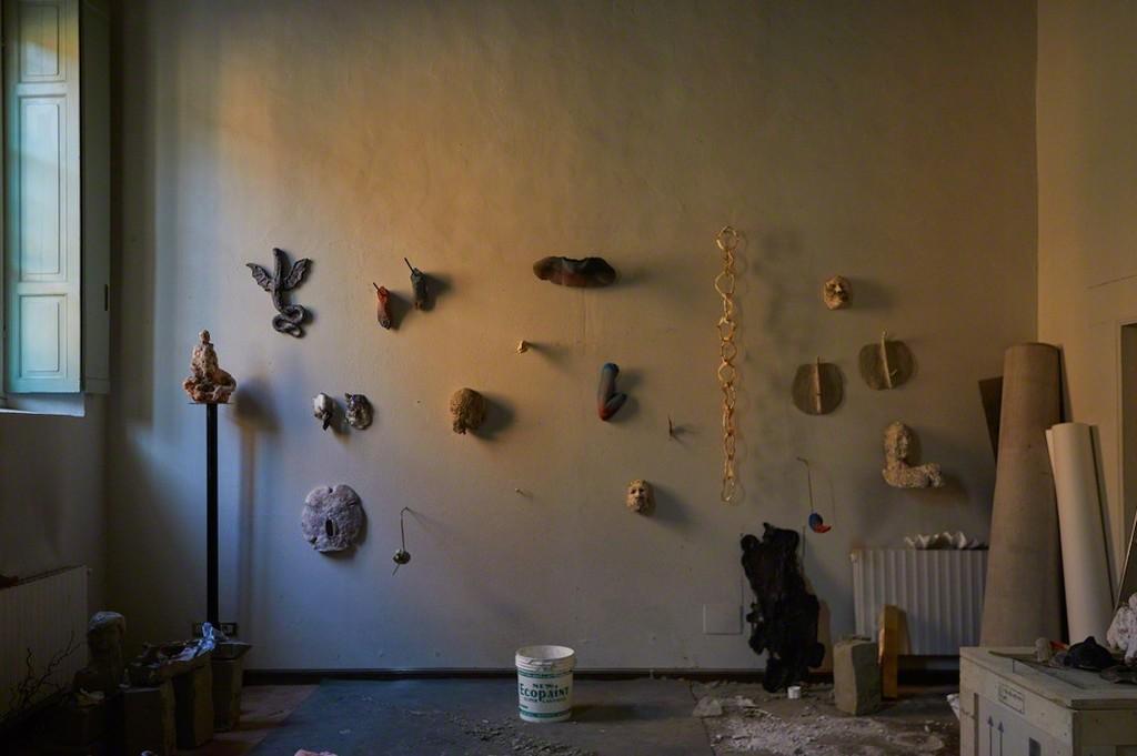 Antonio Fiorentino's studio at Palazzo Monti