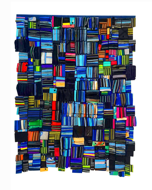 Patrick Tagoe-Turkson, 'Ofre', 2018, Mixed Media, Recycling of found flip-flops on suede, Out of Africa Gallery