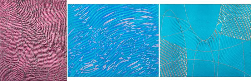 Three works of art: Pool at Night; Swimming Bird; Saddle