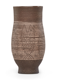 Early vase with fish