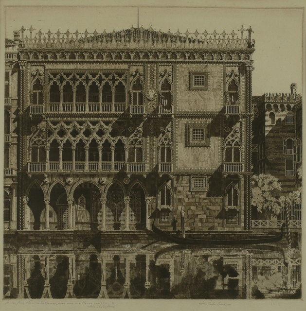 John Taylor Arms, 'Venetian Filigree, Ca D'Oo, Venice', 1931, Private Collection, NY