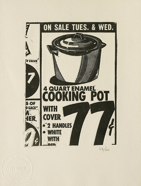 Andy Warhol, 'Cooking Pot, from International Anthology of Contemporary Engraving: The International Avant-Garde, Vol. 5, America Discovered', 1962, Phillips
