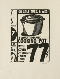 Cooking Pot, from International Anthology of Contemporary Engraving: The International Avant-Garde, Vol. 5, America Discovered