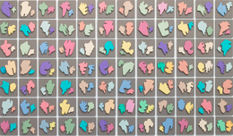 , 'The Shapes Project: Collection of Ninety-six Perfect Couples,' 2005-2014, Petzel Gallery