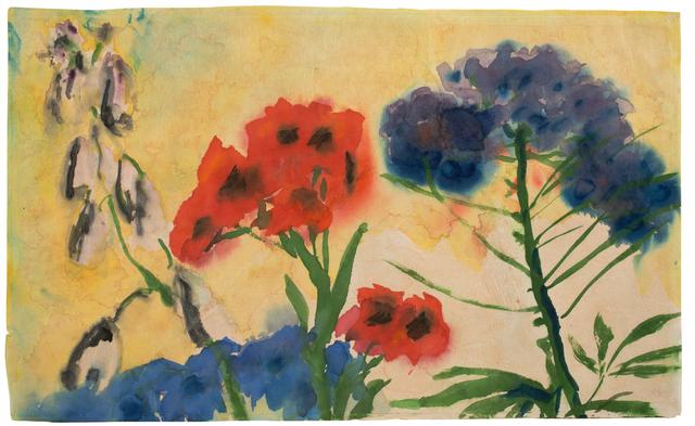 Emil Nolde, 'Rote und Blaue Blumen (Red and Blue Flowers)', 1950-1951, Galerie Herold