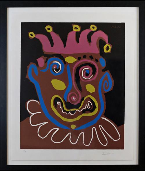 Pablo Picasso, 'Le Vieux Roi (B. 1152)', 1963, Print, Linocut, Vanessa Villegas Art Advisory