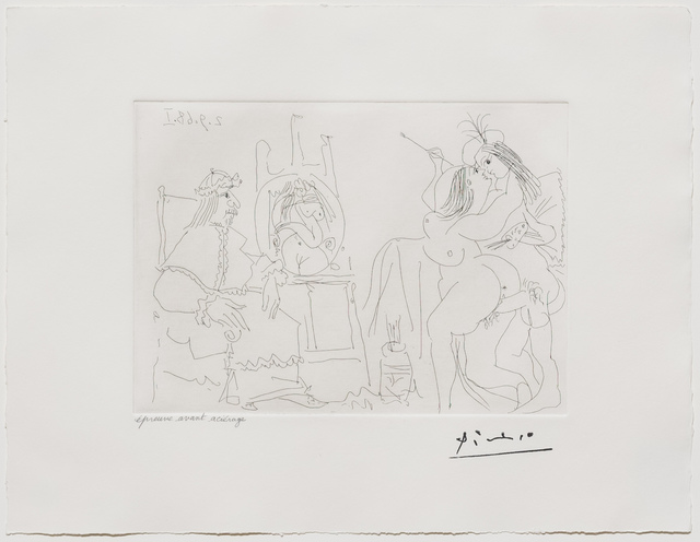 Pablo Picasso, 'Raphael et la Fornarina X..., from the 347 Series', 1968, Leslie Sacks Gallery