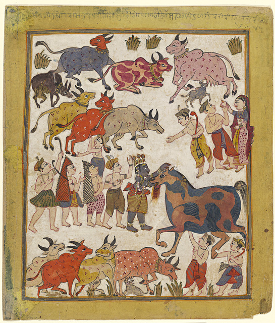 'Krishna Slaying the Horse Demon', 1640, National Gallery of Victoria