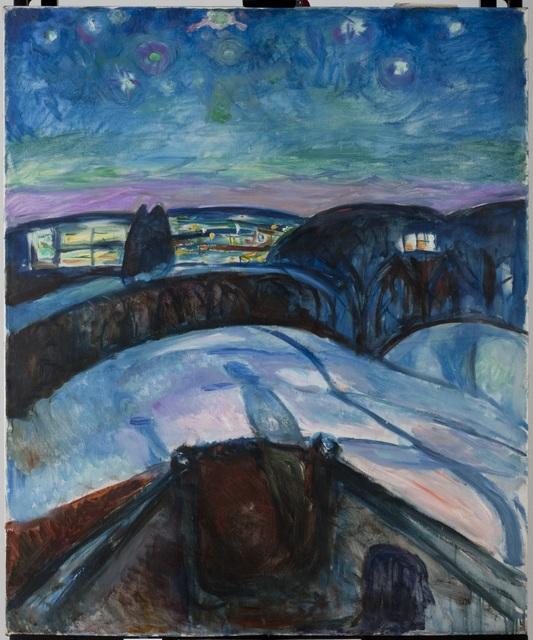 , 'Starry Night II,' 1922-1924, Munch Museum