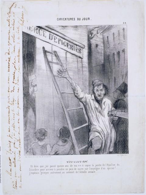 Honoré Daumier, 'Caricatures du Jour: Désillusion! ', 1843, Phillips Collection