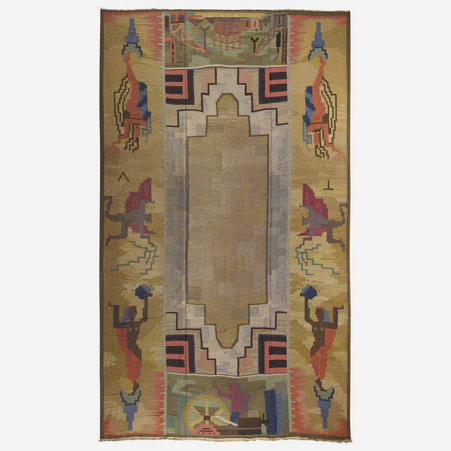 Carl Edvin Svensson, 'Important flatweave carpet for the Malmo City Theater', c. 1930, Wright