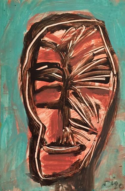 Rigo (José Rigoberto Rodriguez Camacho), 'Untitled (Aqua Head)', 2017, Thomas Nickles Project