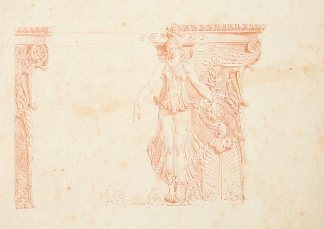 , 'Study of a capital for the Platinum Room, Casa Real del Labrador, Aranjuez,' 1800, Bard Graduate Center Gallery