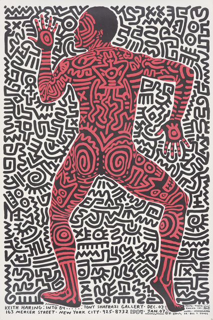 Keith Haring, 'Keith Haring at Tony Shafrazi Gallery.', 1984, Rennert's Gallery