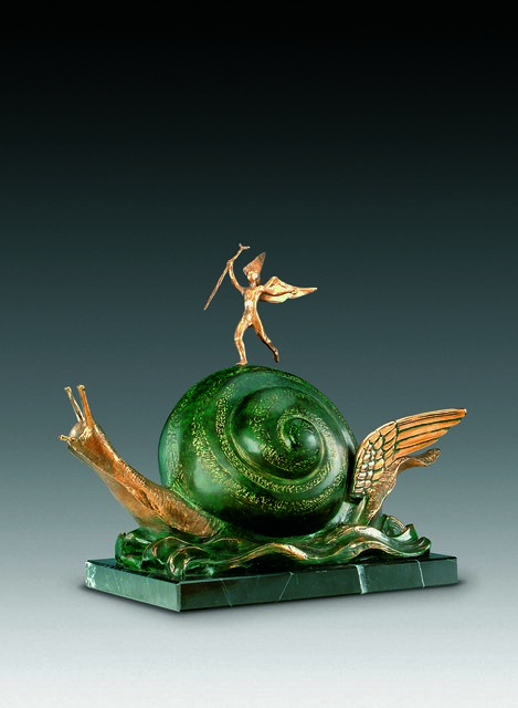 Salvador Dalí, 'The Snail And The Angel', 1977, Sculpture, Bronze lost wax process, Dali Paris