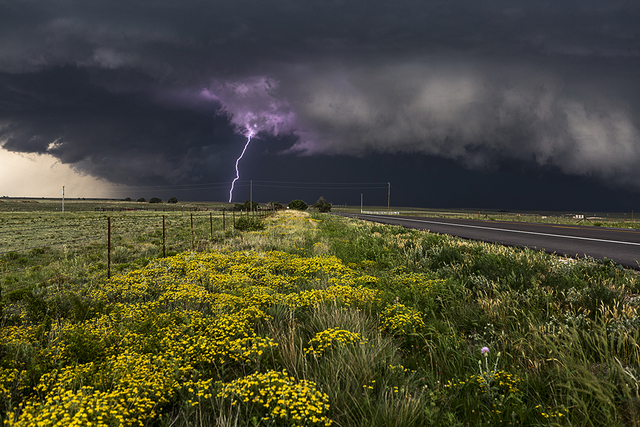 , 'Purple Lightning, Canadian TX, 22 June 2014,' 2014, 555 Gallery