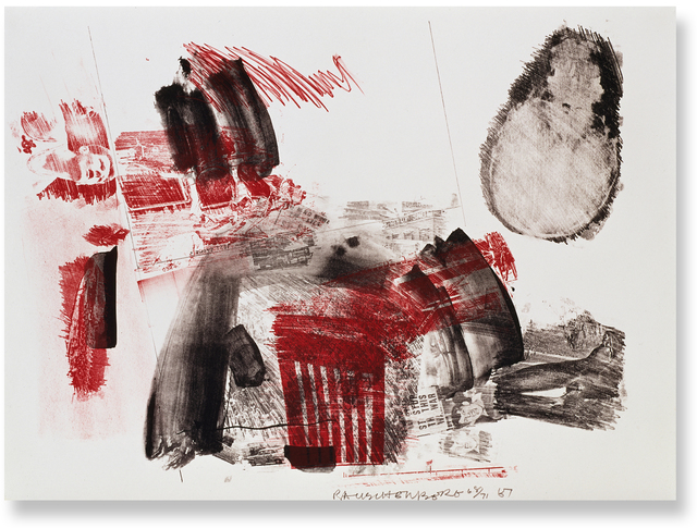 Robert Rauschenberg, 'Test Stone #3', 1967, Print, 2-color lithograph, Gemini G.E.L. at Joni Moisant Weyl