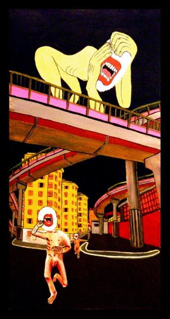 , 'Nudisti Timidi si sono dimenticati che stavano giocando nascondino e ballano e mangiano Takoyki in Via del Pigneto, Roma,' 2011, 11 [HellHeaven]
