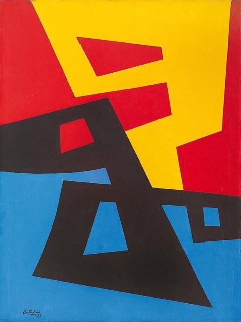 , 'Formas en amarillo, rojo, negro, y azul,' 1953, Galería de las Misiones