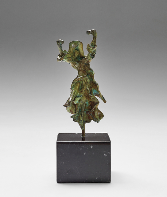 Salvador Dalí, 'Carmen - Castanets', c.1970, Sculpture, Bronze with green patina, on a marble base, contained in the original foam-lined wooden box., Phillips