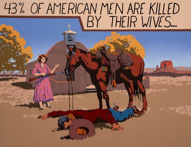 , '43% of American Men ,' , Visions West Contemporary