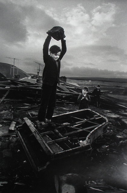 , 'Boy Destroying Piano, Wales,' 1961, Howard Greenberg Gallery