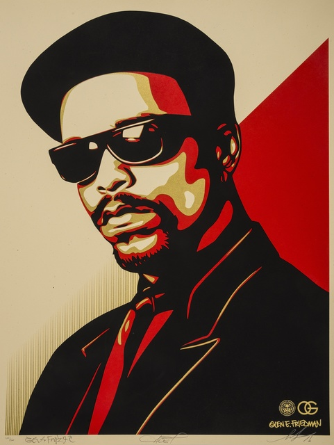 Shepard Fairey (OBEY), 'Ice-T OG (Red)', 2016, Forum Auctions