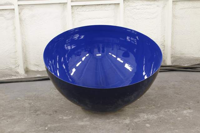Marlene Hilton Moore, 'Outdoor Sculpture Medium Sized Ultramarine Sky Blue Singing Bowl by Marlene Hilton Moore', 2018, Oeno Gallery