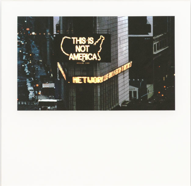 , 'This Is Not America,' 1987, Lia Rumma