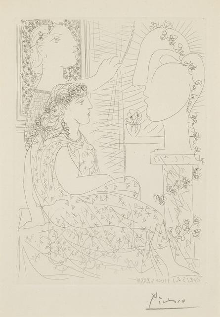 Pablo Picasso, 'Deux femmes regardant une tête sculptée (B. 150; Ba. 302)', 1933, Print, Etching, Sotheby's