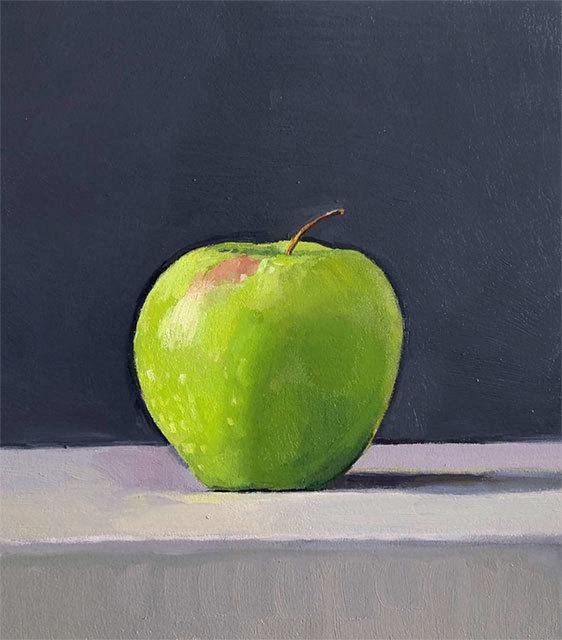 Dan McCleary, 'Apple', 10.18.19, Painting, Oil on canvas, Craig Krull Gallery