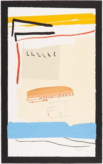 Robert Motherwell, 'America - La France Variations III', 1984, Kasmin