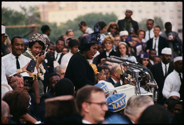 Gordon Parks, 'Untitled, Washington, D.C. (Mahalia Jackson Sings at the March on Washington)', 1963, Jenkins Johnson Gallery