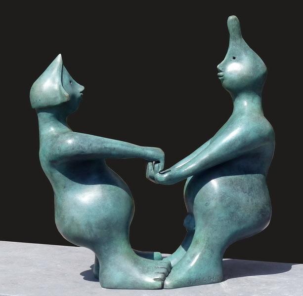 Le maghien, 'Couple', 2016, Sculpture, Bronze, Art Center Horus