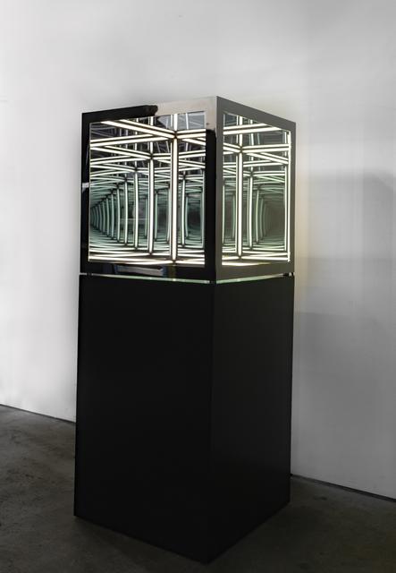 ", '24"" cube (Black Nickel),' 2020, Opera Gallery"
