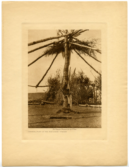 Edward Sheriff Curtis, 'Central Post of the Sun Lodge - Piegan', 1926, Etherton Gallery