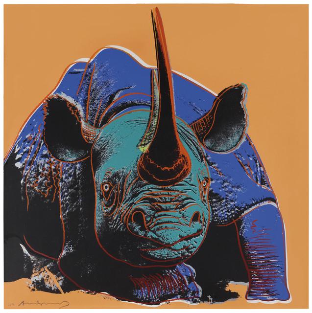 Andy Warhol, 'Black Rhinoceros, from Endangered Species', 1983, Christie's
