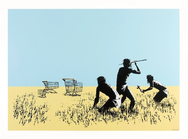 Banksy, 'Trolley Hunters', 2007, Oliver Clatworthy
