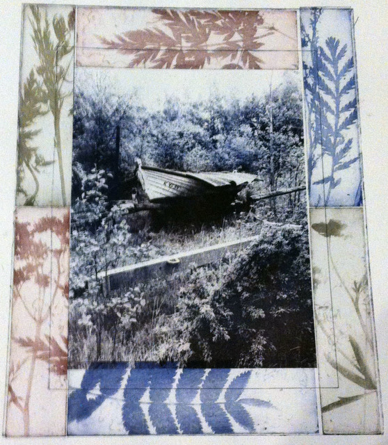 , 'Lapaluoto covered boat with Flora,' 2014, InLiquid