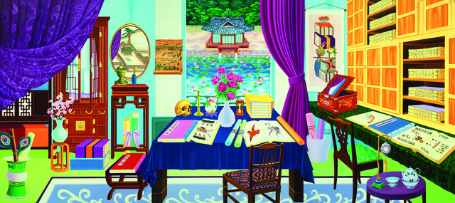, 'Looking at Buyongjeong from Gyujanggak,' 2014, Leehwaik Gallery