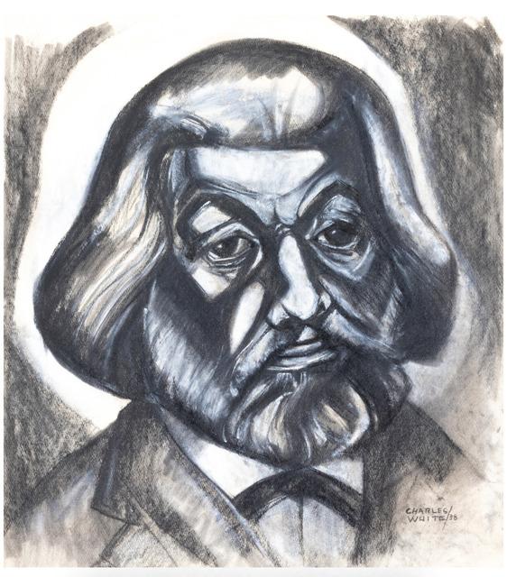 Charles White, 'Portrait of Frederick Douglass', 1938, John Wolf Art Advisory & Brokerage