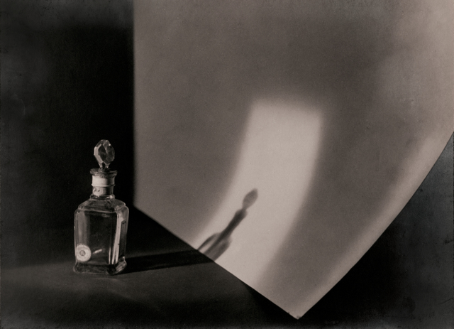 Jaromír Funke, 'Still life with glass bottle', 1924, Photography, Gelatin silver print mounted to board, printed c. 1924, Bruce Silverstein Gallery