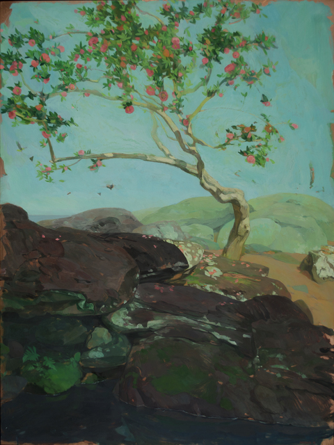 , 'Camellia Tree by Pool,' 2017, LeMieux Galleries