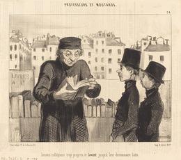 Honoré Daumier, 'Jeunes collégiens... lavant jusqu'a leur dictionnaire latin', 1846, National Gallery of Art, Washington, D.C.